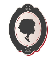 Cameo Lady afro hair vector image vector image