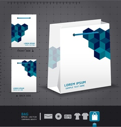 Abstract bag design corporate identity design for vector image