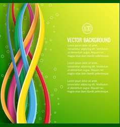 Abstract dynamic light poster vector