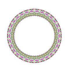 Abstract floral border - round circular element vector