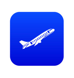 Aircraft icon digital blue vector