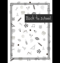 Back to school background 2 vector