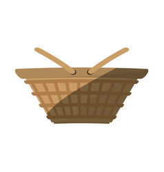 basket picnic food shadow vector image vector image