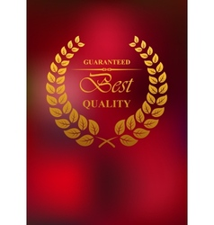 Best quality product label or emblem vector