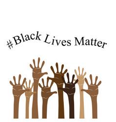 Black lives matter banner for protest on white vector
