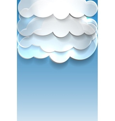 Blue background with clouds and place for text vector image
