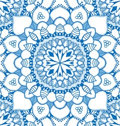 Blue Mandala Patterned Background vector