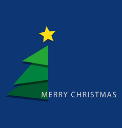 blue wishes text - stylized christmas tree star vector image