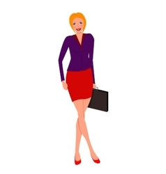 Business woman with a briefcase vector