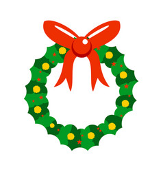 Cartoon christmas decorated garland vector