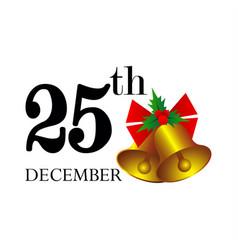 christmas day vector image