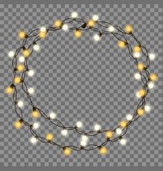 Christmas tree string garland vector