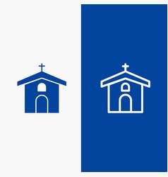 Church celebration christian cross easter line vector