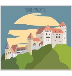 City buildings graphic template Liechtenstein vector