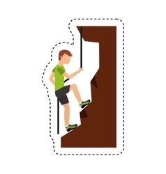 Climbing extreme sport icon vector