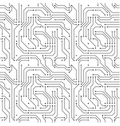 Computer microchip seamless pattern on white vector