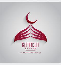Creative mosque design for ramadan kareem festival vector