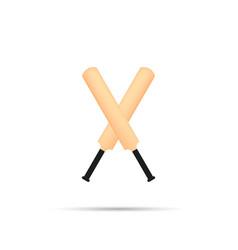 cricket bat icon vector image