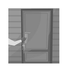 Design burglar and door symbol vector