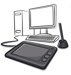 Digital graphics tablet vector