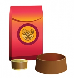 dog food feeder vector image