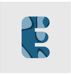E water font template design vector
