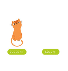 Educational word card with antonyms template vector