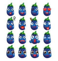 Eggplant emoji emoticon expression funny cute vector