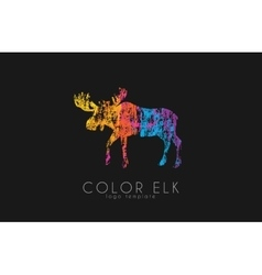 Elk logo Color elk design Creative logo vector image