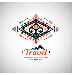 Fancy abstract geometric simbol in tribal vector