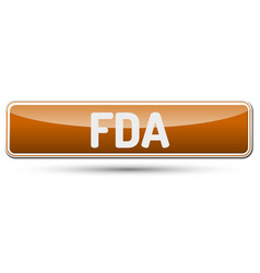 fda - abstract beautiful button with text vector image