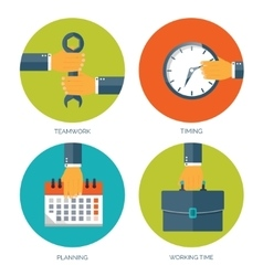 Flat business background with vector