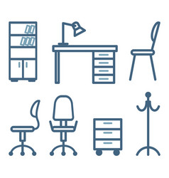 furniture for office vector image