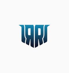 letter rr in a unique shape game logo design vector image
