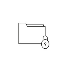 locked folder icon vector image