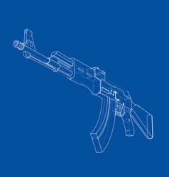 Machine gun rendering of 3d vector