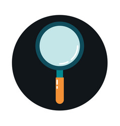 magnifying glass search discovery block and flat vector image