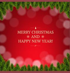 merry christmas card with borders vector image