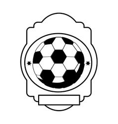 Monochrome heraldic with soccer ball vector