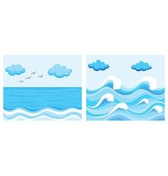 Ocean scene with waves vector