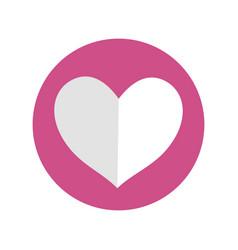 pink symbol heart decorative vector image