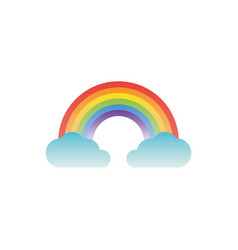 rainbow clouds fantasy gradient style vector image