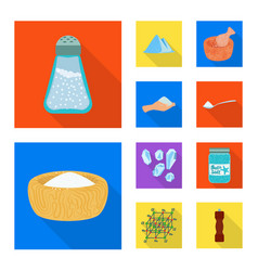 Raw and kitchen icon set vector