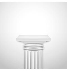 Realistic Classic Empty White Column vector image