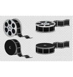 Reel film isolated icon vector