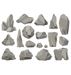 rocks and stones single or piled for damage vector image