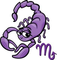 scorpio zodiac sign cartoon vector image