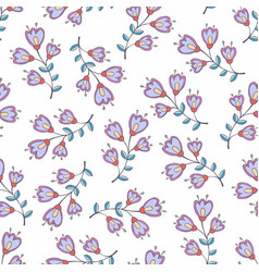 seamless pattern with stylized flowers background vector image