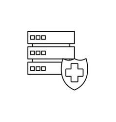 server protection icon vector image