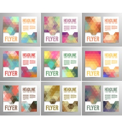 Set abstract flyer template vector